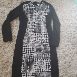 Cato houndstooth dress
